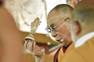 Его Святейшество Далай-лама дарует 33-е посвящение  Калачакры. Фото: Мануэль Бауэр.