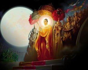 Нисхождение Будды из рая Тушита
