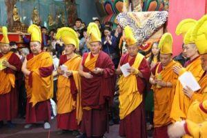центральный хурул Калмыкии, церемония разрушения мандалы Будды Амитаюса