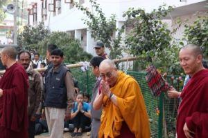 Его Св-во Далай-лама в Бодхгае, 2012 г. Посвящение Калачакры, фото Н. Шалдуновой