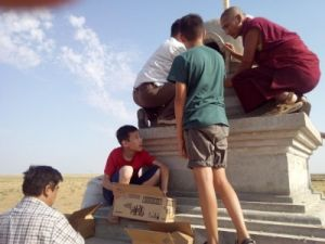 Строительство ступы Просветления, Калмыкия