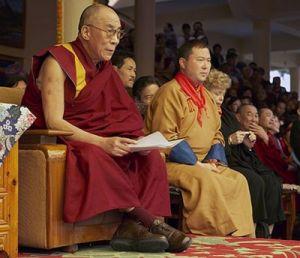 Его Святейшество Далай-лама и Тэло Тулку Ринпоче
