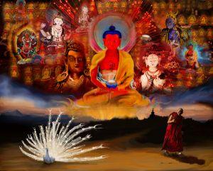 6-7 марта 2021 — Кьябдже Гарчен Ринпоче дарует посвящение Шитро из цикла Янгдзаб и передачу Великой Пховы Дрикунг