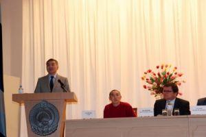 Буддийский монах на республиканском съезде учителей калмыцкого языка